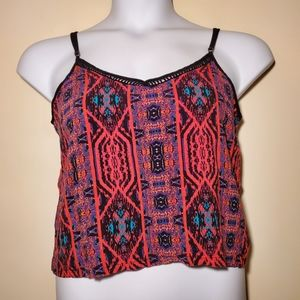 Forever 21 Funky Cropped Tank Top Size M